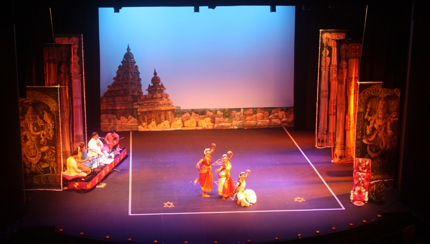 Dance stage design images galleries for Arangetram stage decoration ideas