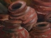 Empty Pots..Invisible Thoughts